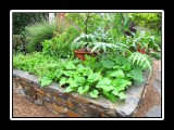 raised beds made of designer rock